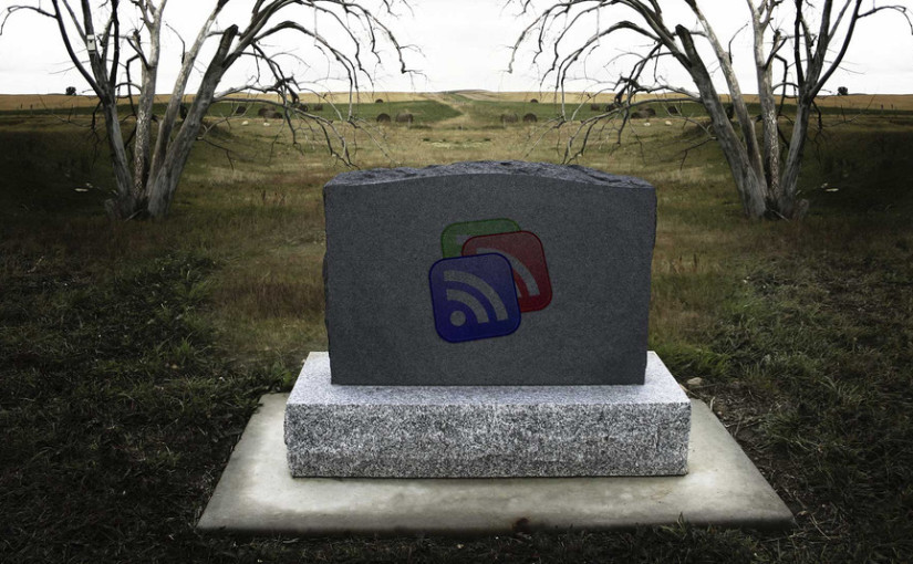 Tombstone for Google Reader