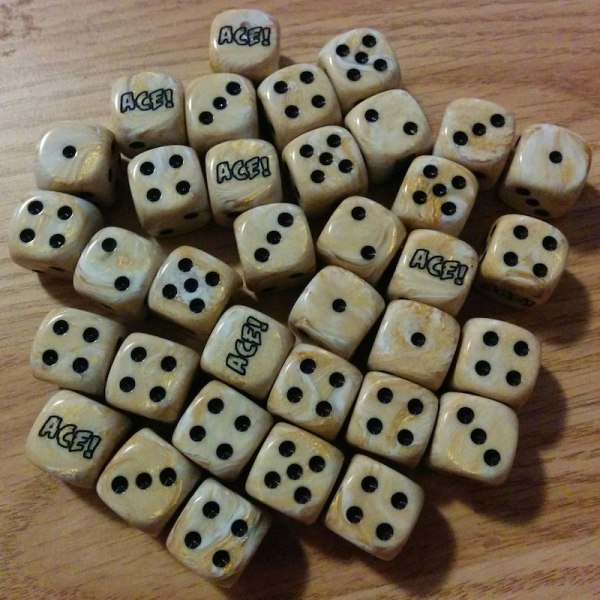 Marble Ace Wild Dice