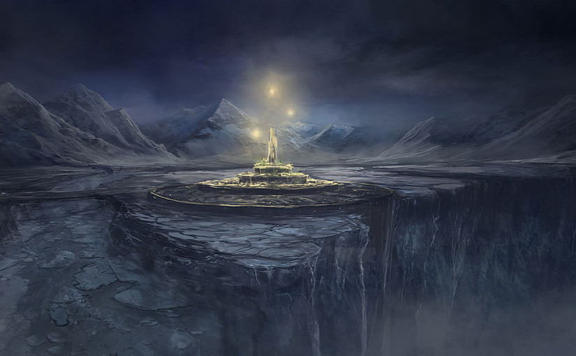 illustration of Deadfalls, a city in Winter Eternal's fictional world of Elherrac
